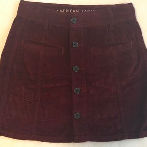 3b36889d2e American Eagle Outfitters Skirts - AE High Waisted Festival Corduroy Skirt